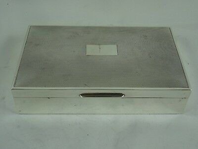 SOLID silver CIGARETTE BOX, 1970