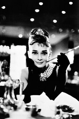 Audrey Hepburn Black And White Portrait 91.5 X 61Cm Poster New Official