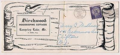 Rangeley Lake,Maine~Advertising Brochure~BIRCHWOOD Cottages~w price card~1961