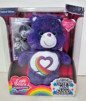 NIB Just Play Care Bears Rainbow Heart 35th Anniver. Plush Limited Edition 4222C