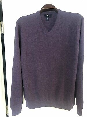 Lands End Mens 100 Cashmere Vneck Sweater Ltall 3000 Picclick