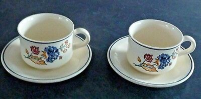 "Boots "" Camargue "" Tea Cups And Saucers X 2"