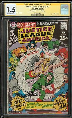 Justice League of America #67 CGC 1.5 FR/GD JLA SIGNED BY NEAL ADAMS DC Comics