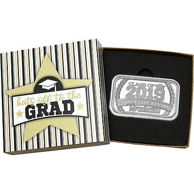 Congratulations Graduate! Class of 2019 1oz .999 Silver Bar