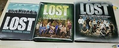 LOT of 3 Lost Collectible Trading Card Binder Album Seasons 1, 2 & 3