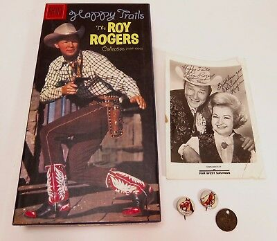 Happy Trails: Roy Rogers Collect. 1937-1990 3-Cd Box Set W/Booklet, Photo & Pins