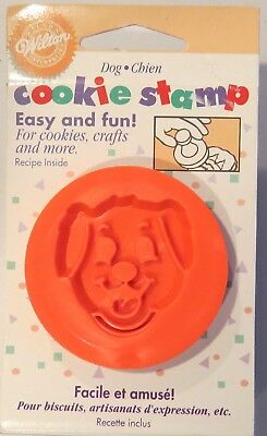 Wilton 1997 Dog Chien Cookie Stamp For Cookies Crafts & More NIP New in Package
