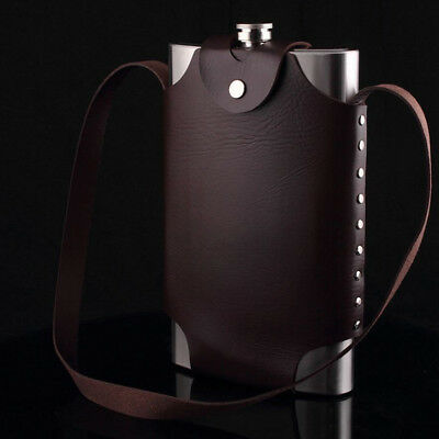 Big Capacity Hip Flask Flagon Wine Pot 64OZ Outdoor Portable Stainless Steel