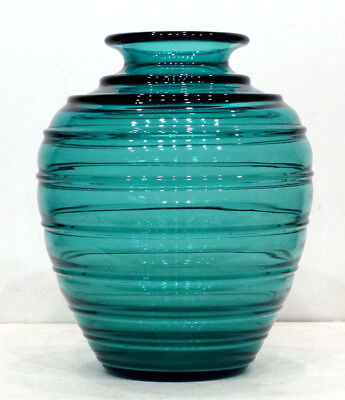 HUGE! 1920's 1930's ANTIQUE Vintage DAUM Modernist ART DECO Glass Vase / SIGNED!