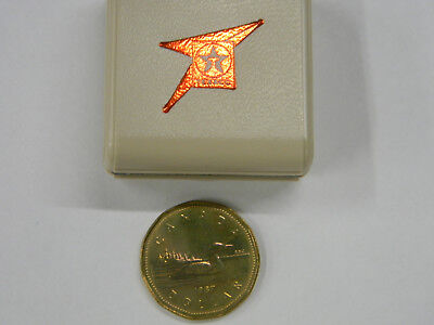 1987 Canadian Dollar in Texaco Skyservice FBO Display Case    M5
