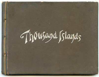 NY 1000 Thousand Islands Hardcover Souvenir Book 1899 Photo-Gravures (Awesome)