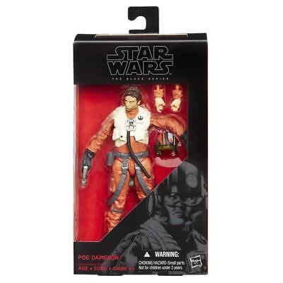 Star Wars: The Force Awakens Black Series 6 Inch Poe Dameron (Authentic)