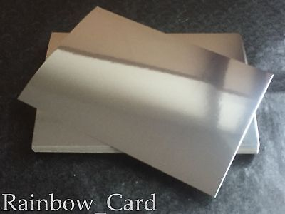 20 Sheets - Silver & Gold Mirror A4 Crafting Card 280Gsm ** Any Combination **