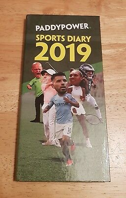 NEW Paddy Power Hardback Pocket 2019 Racing / Sports Diary (Same Day Dispatch !)