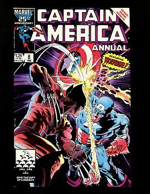 Captain America Annual #8 VF Autographed Gruenwald Zeck Classic Wolverine Cover