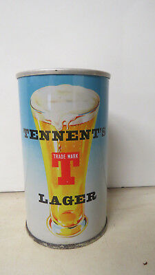 Tennent's Lager Tennent's Girls Pat Pull Tab Beer Can. Scotland.