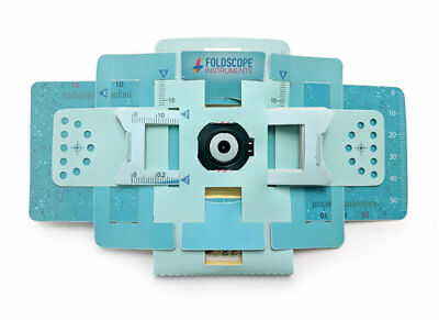 Foldscope kit. Awesome ORIGAMI-BASED pocket microscope kit