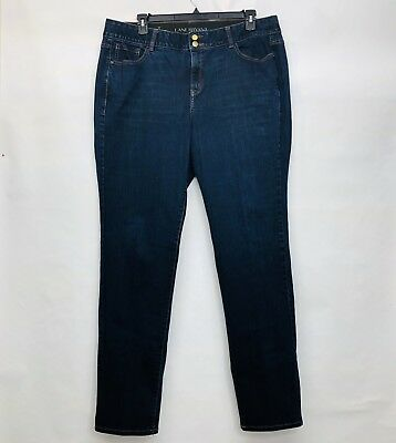 Lane Bryant Dark Wash Straight Leg Tighter Tummy Tech Womens Jeans Size 20 Long