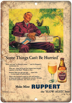 "Ruppert Beer Vintage Breweriana Ad 12"" x 9"" Retro Look Metal Sign E384"