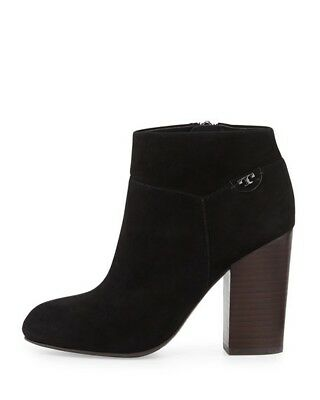 Tory Burch Fulton, Black Suede Bootie, 8M