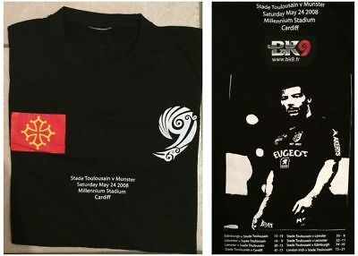 T-Shirt Rugby STADE TOULOUSAIN  MUNSTER FINALE Coupe d'Europe 2008 Champions CUP