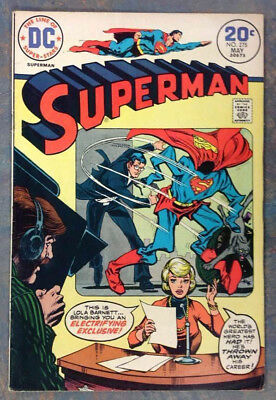 "SUPERMAN #275 DC Comics 1974Featuring ""The Fabulous World of KRYPTON"" and more"