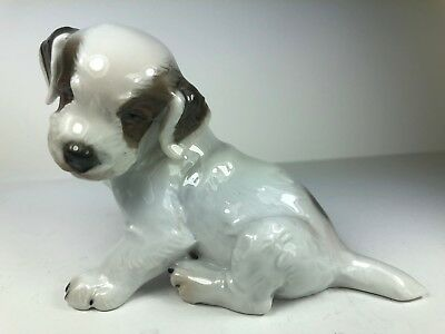 Rosenthal Germany Porcelain Sealyham Terrier Puppy, Seated, By Karner