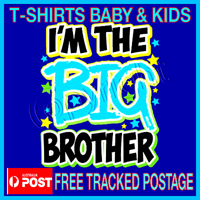 BROTHER BIG - Pregnancy Annoucement T-Shirt   Big Brother Sizes 1-12 Tops Tees