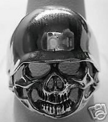 LOOK Military Army Skull Corpse Skeleton Ring Soldier Gothic