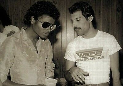 Freddie Mercury and Michael Jackson, together in this photo