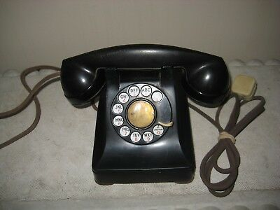 Western Electric Bell System F1 Rotary Desk Phone - Black - Telephone - Vintage