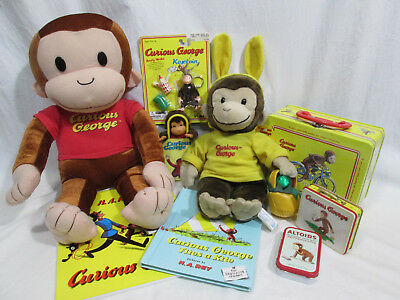 CURIOUS GEORGE COLLECTION-Plush, Puzzle, Lunchbox, Keychain, Books, + more