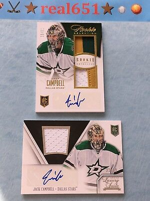 2013 Rookie Anthology JACK CAMPBELL Auto~Patch~RPA Lot | 3-Color Prime /50 Kings
