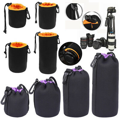 S~XL Waterproof Neoprene Lens Pouch Bag Protective Case for Digital SLR Camera