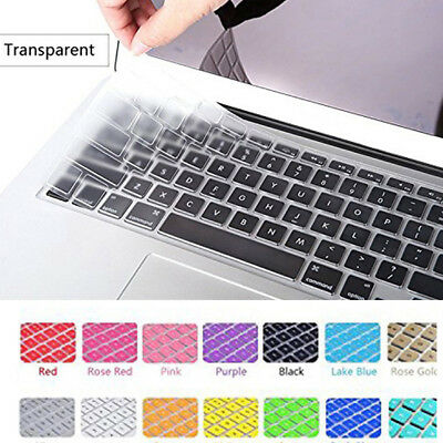 "Laptop Silicone Keyboard Protector Skin Cover For Apple Macbook Pro 13"" 15"" 11"""