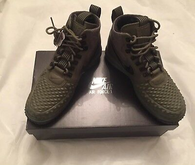Nike Air Force 1 LF1 Duckboot 17 Mens Size 8.5 NIB Olive Color 916682-202 ,NEW