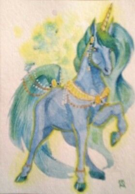 Original ACEO Unicorn 5  by Kovtun Daria