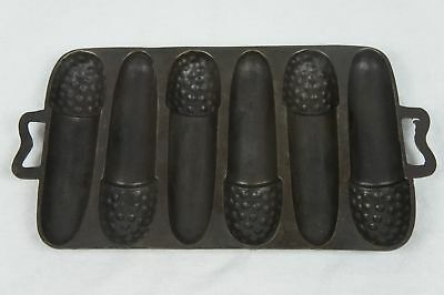 Antique Cast Iron Lodge California Acorn Cornbread Stick Pan Mold Extremely Rare
