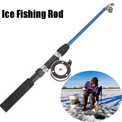 High Quality Carbon Portable Winter Reels Retractable Pen Pole Ice Fishing Rods