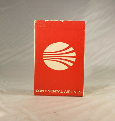 Continental Airlines Pre-Owned Playing Cards Red Logo with Orange Lettering