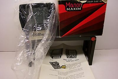 Vintage Manon Maxim Slide Viewer With Box, Instructions & Extra Bulb--Mint In Bo