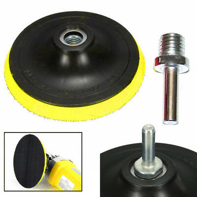 3/4/5/6/7''Backer Pad Sand Polishing Buffing Plate Rubber+M14 Drill Thread Kit