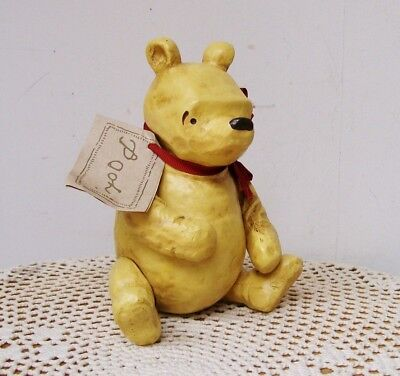 """Charpente Classic WINNIE the POOH FIGURINE Bear Jointed with Tag Disney 6.5"""""""