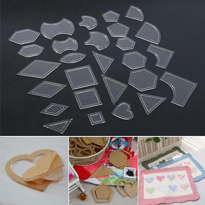54pcs Acrylic Quilt Templates Sewing Stencils Patchwork Craft Ruler Sewing Tools