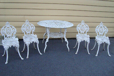 GAR FS:   Metal Outdoor Patio Garden Dining  Table With 4 Side Chair s