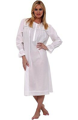 NWT Alexander Del Rossa Women s 100% Cotton Victorian Long Sleeve Nightgown  XL 33304ad46