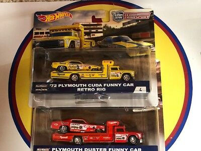 Hot Wheels Car Culture Team Transport B Snake & Mongoose Set New
