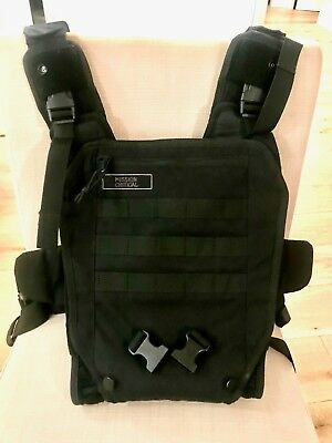 Mission Critical Tactical Front Baby Carrier Black
