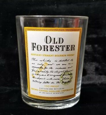 Vintage Old Forester Kentucky Straight Bourbon Whisky Lowball Glass