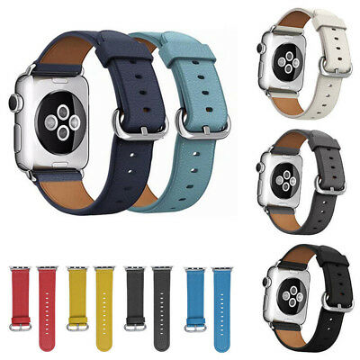 Armband für Apple Watch 38mm 42mm Leder Leather Strap Band Uhr iWatch NEU